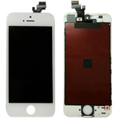 Replacement White iPhone 5 LCD Screen + Touch Digitizer + Glass Panel
