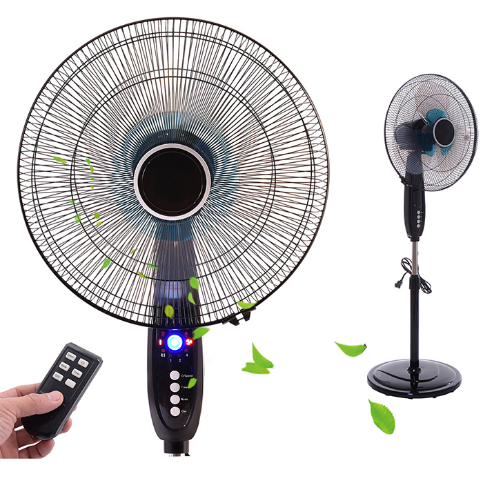 Pedestal Fan Remote Control Stand Fan Timer Quiet Oscillating Indoor