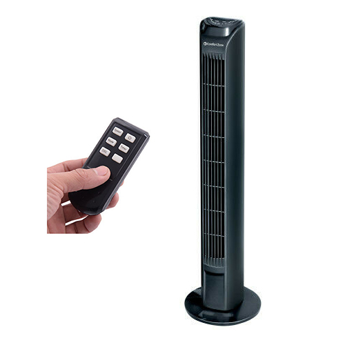 Tower Fan with Remote Control Oscillating 3-Speed