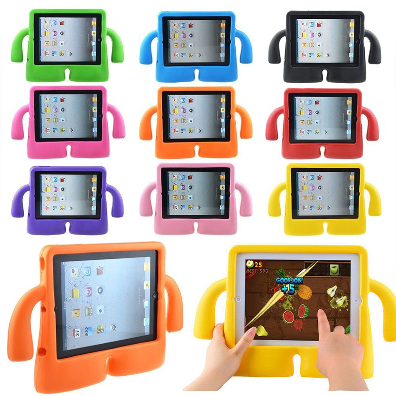 Kids Handle EVA Foam Case Cover for iPad 2 iPad 3 iPad 4 Shockproof Stand