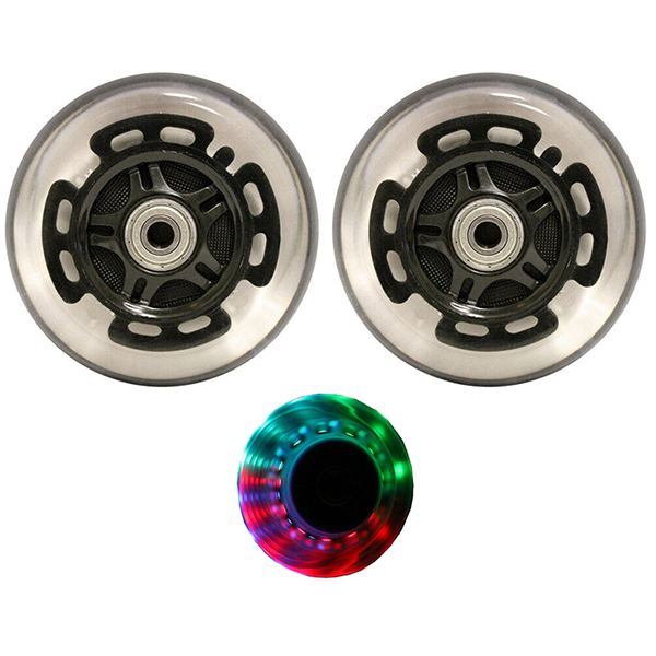 2 x 100mm LED Wheels for Razor Scooter + ABEC-9 Bearings LIGHT UP