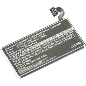 Replacement Battery for AGPB009-A002 Sony Xperia Sola MT27i MT27 Battery 1253-1155