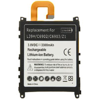 Replacement Battery for LIS1525ERPC Sony Xperia Z1 C6902 C6903 C6906 L39h