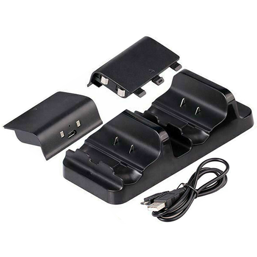2 Battery + Xbox One Charging Dock Controller Charger